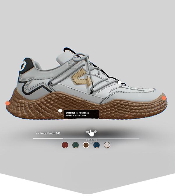 Configuratore online per scarpe ecologiche